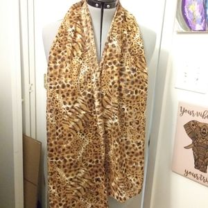 Leopard print scarf. Accents by lane bryant